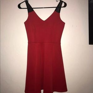 Red Dress with Mesh Straps